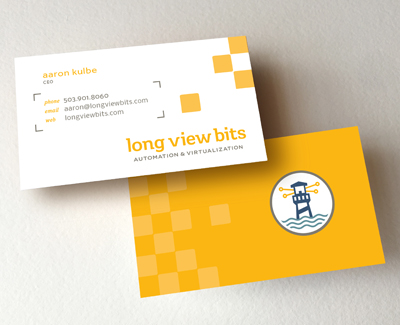 Long View Bits business card